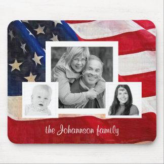 Todas las fotos americanas de la familia 3 con la  alfombrilla de ratón