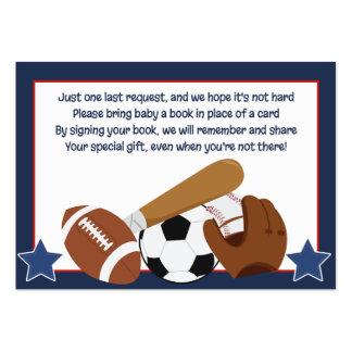 Todas las tarjetas de la petición del libro del tarjetas de visita grandes