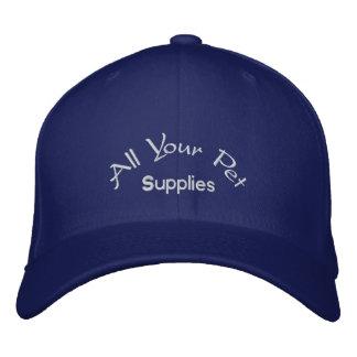 Todas sus fuentes del mascota gorras de béisbol bordadas