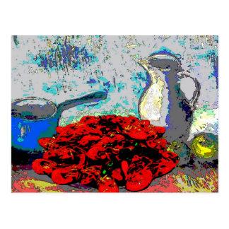Todavía de los cangrejos vida, Fauvism Postal