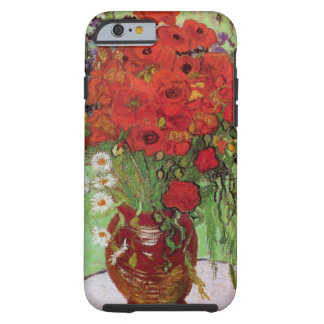 Todavía de Van Gogh amapolas y margaritas rojas de Funda Para iPhone 6 Tough