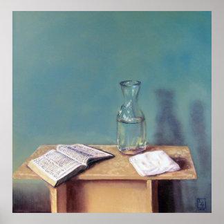 Todavía del bautismo impresión de la vida poster