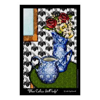 Todavía del calicó vida azul (poster de la bella póster