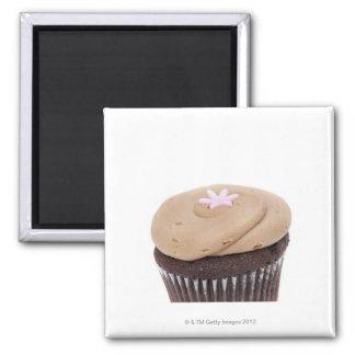 Todavía del estudio vida tirada de cupcakes. imán cuadrado