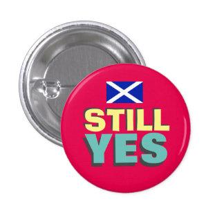 Todavía insignia sí escocesa de la bandera de la chapa redonda 2,5 cm