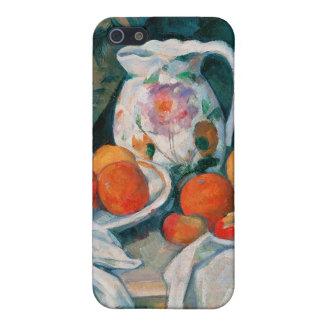 Todavía vida con la cortina, Paul Cézanne iPhone 5 Protectores