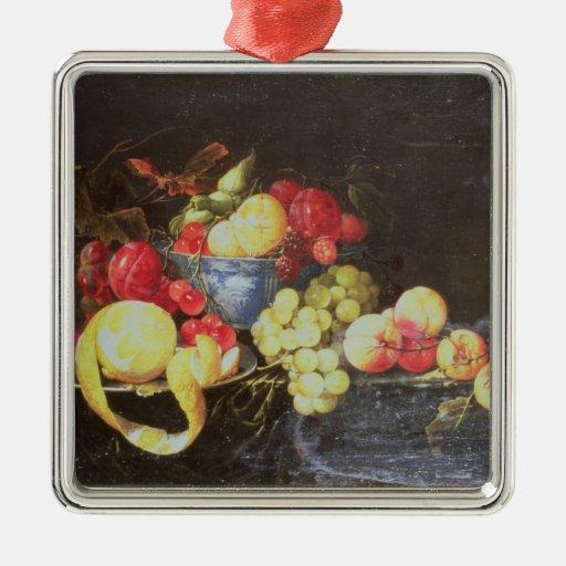 Todavía vida con la fruta en el cuenco de Delft, i Ornaments Para Arbol De Navidad