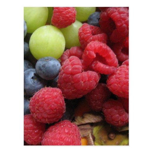 Todavía vida con las frutas postales