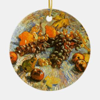 Todavía vida con las manzanas, peras, uvas - Van Adorno De Cerámica
