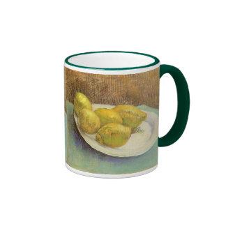 Todavía vida con los limones en la placa; Vincent Taza De Dos Colores