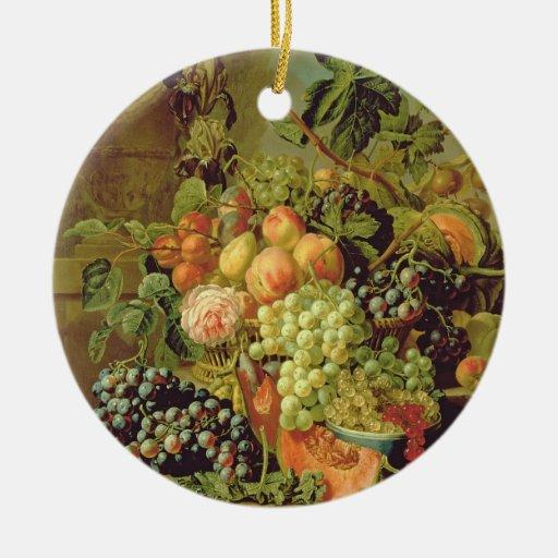 Todavía vida de la fruta ornamento para arbol de navidad