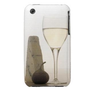 Todavía vida del vino, del queso y del higo funda para iPhone 3 de Case-Mate