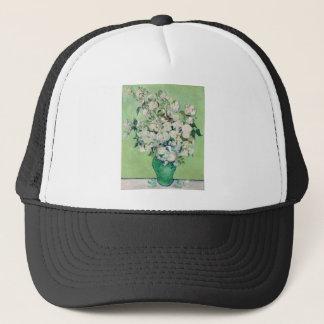 Todavía vida: Florero con los rosas - Vincent van Gorra De Camionero