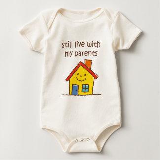 Todavía viva con mis padres body para bebé