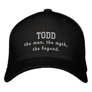 Todd el hombre, el mito, la leyenda gorras de beisbol bordadas
