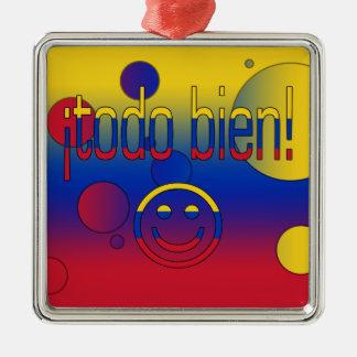¡¡Todo Bien La bandera de Venezuela colorea arte Adorno De Reyes