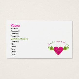 Todo curativo viene de amor tarjeta de visita