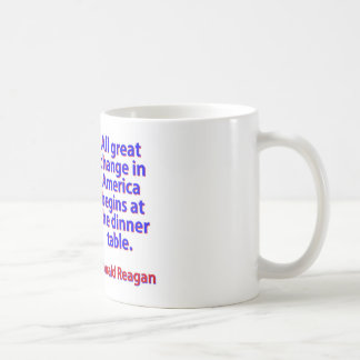 Todo el gran cambio en América - Ronald Reagan Taza De Café