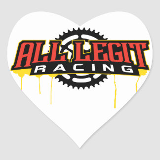 Todo el legit que compite con el logotipo pegatina en forma de corazón