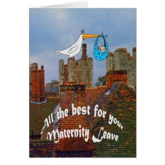 Todo el mejor para su permiso por maternidad tarjeta de felicitación