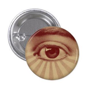 Todo el ojo que ve chapa redonda de 2,5 cm