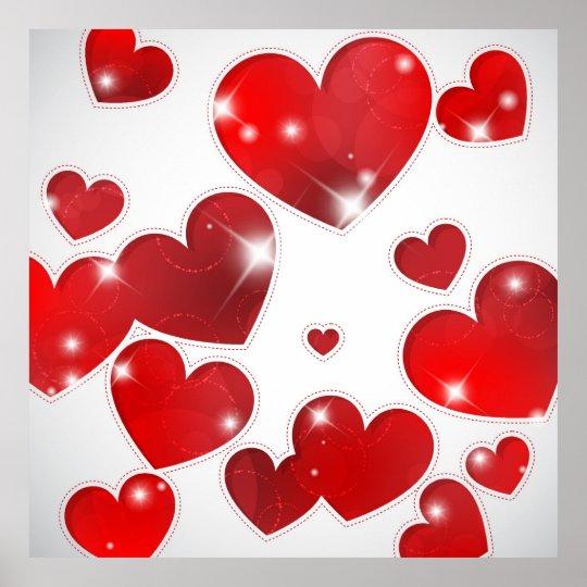Todo el poster de los corazones póster