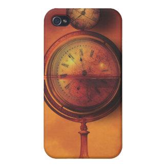 Todo el tiempo en el globo del reloj de Steampunk  iPhone 4 Cárcasa