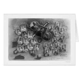 Todo el viaje 1897 del béisbol de América Tarjeta
