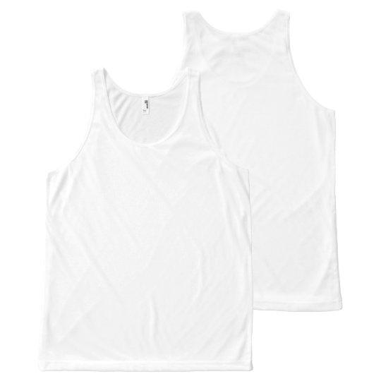 Custom Camiseta de tirantes unisex con estampado integral