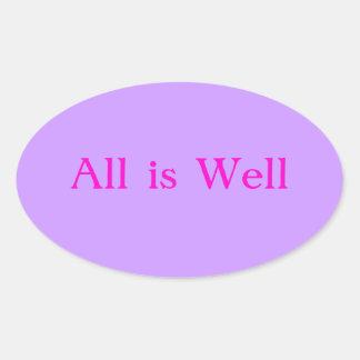 Todo es rosa púrpura del pegatina bien