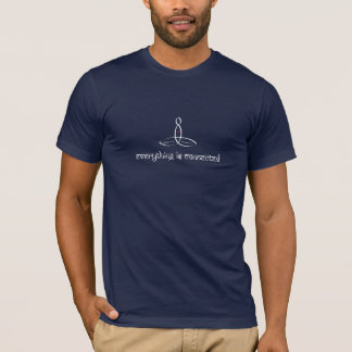 Todo está conectada - el estilo sánscrito blanco camiseta