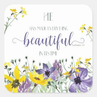Todo hermoso - 3:11 del Ecc Pegatina Cuadrada