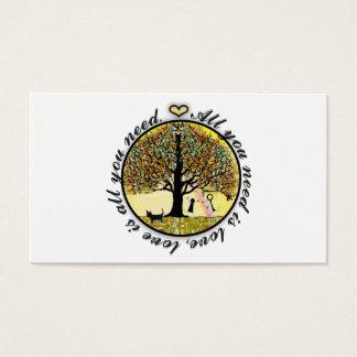 Todo lo que usted necesita es árbol de amor de la tarjeta de negocios