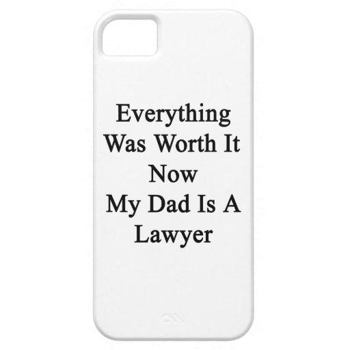 Todo lo valió ahora que mi papá es abogado iPhone 5 cárcasas