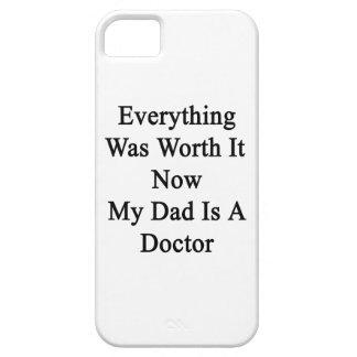Todo lo valió ahora que mi papá es doctor iPhone 5 Case-Mate protectores