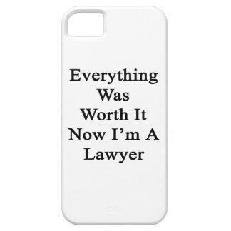 Todo lo valió ahora que soy abogado iPhone 5 carcasa
