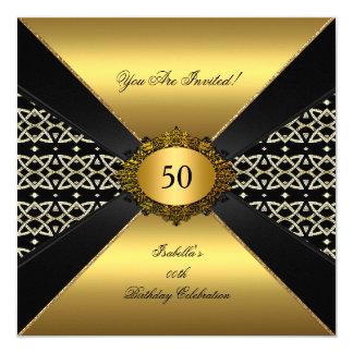 Todo ocasiona al fiesta elegante del negro del oro comunicados personalizados