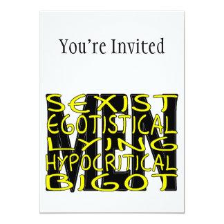 Todo sobre hombres invitación 12,7 x 17,8 cm