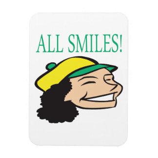 Todo sonríe imán flexible