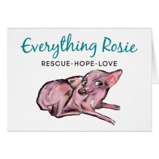 Todo tarjeta de nota de Rosie