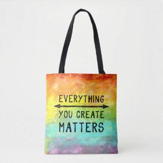 Todo usted crea materias bolso de tela