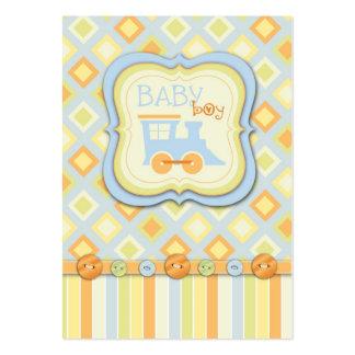 Todos a bordo de fiesta de bienvenida al bebé del tarjetas de visita grandes