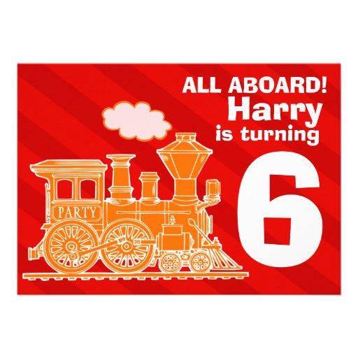 Todos a bordo de fiesta de cumpleaños del tren de  comunicado