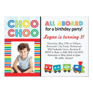 Todos a bordo de la invitación del tren de Choo Invitación 12,7 X 17,8 Cm