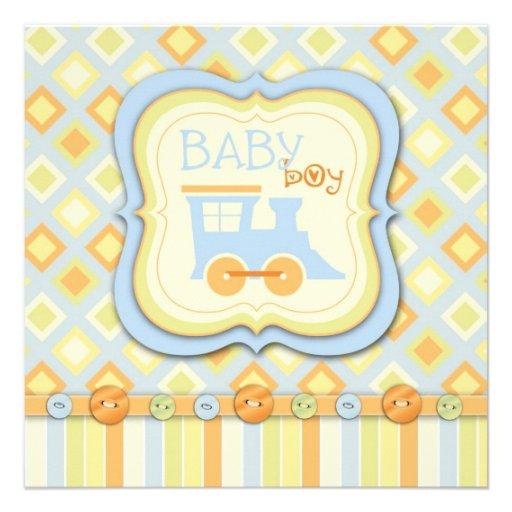 ¡Todos a bordo! Fiesta de bienvenida al bebé del t Invitación Personalizada