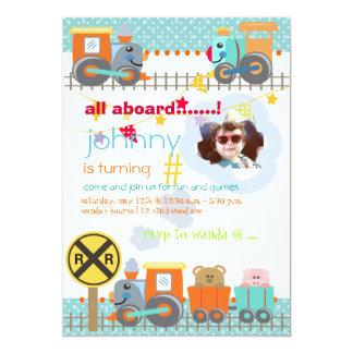 Todos a bordo, invitaciones de la fiesta de invitación 12,7 x 17,8 cm