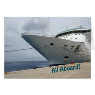 Todos a bordo tarjeta de felicitación