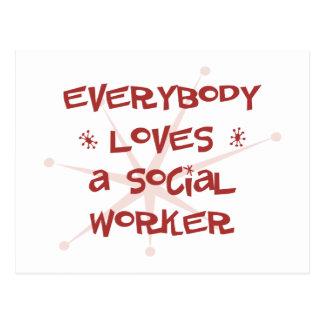 Todos ama a un asistente social postal