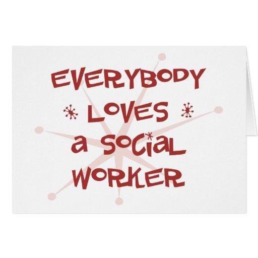 Todos ama a un asistente social felicitaciones