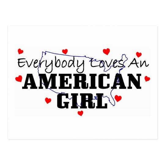 Todos ama a un chica americano postal